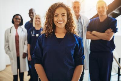 medical group smiling